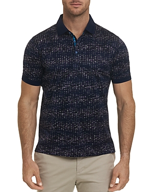 Robert Graham T-shirts FARADAY ABSTRACT-PRINT CLASSIC FIT POLO SHIRT