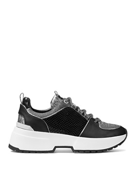 MICHAEL Michael Kors - Women's Cosmo Mixed Media Lace-Up Sneakers