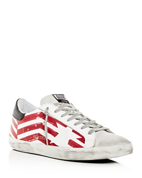 a57fcecb07df1 Golden Goose Deluxe Brand - Men s Superstar Flag Leather Low-Top Sneakers  ...
