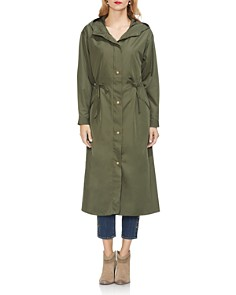 VINCE CAMUTO - Long Hooded Zip Jacket