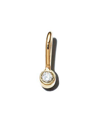 Zoë Chicco - 14K Yellow Gold Diamond Bezel Charm