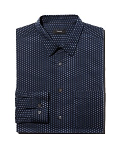 Theory - Irving Connel Circle-Print Regular Fit Shirt