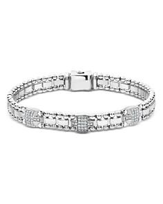 LAGOS - Sterling Silver Caviar Spark Diamond Link Bracelets