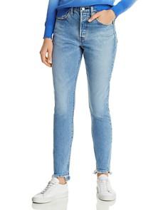 Levi's - 501 Skinny Jeans in Blue Mark