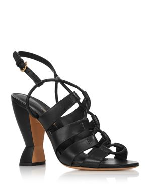 Salvatore Ferragamo Women's Sirmio High-Heel Leather Sandals