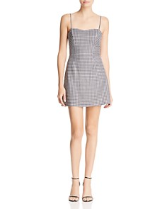 FRENCH CONNECTION - Tie-Back Gingham Mini Dress - 100% Exclusive