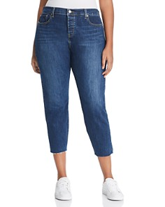 Levi's Plus - Wedgie Skinny Ankle Jeans in Medium Blue