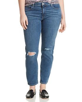 Levi's Plus - 311 Shaping Skinny Jeans in Medium Blue