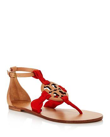 f33d28d33 Tory Burch - Women s Miller Scarf Thong Sandals