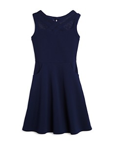 US Angels - Girls' Crisscross Illusion Dress, Big Kid - 100% Exclusive