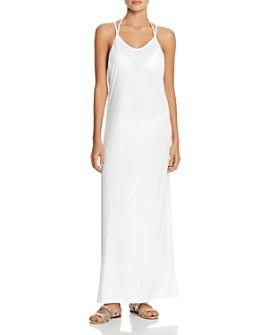 Pitusa - Pom-Pom Necklace Maxi Dress Swim Cover-Up