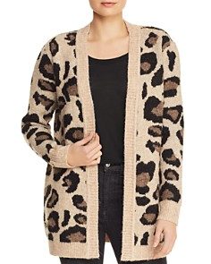 AQUA - Leopard Open-Front Cardigan - 100% Exclusive