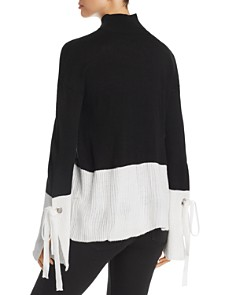 Alison Andrews - Color Block Mock Neck Sweater