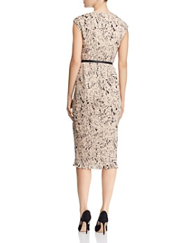 Max Mara - Rino Letter-Print Pleated Dress
