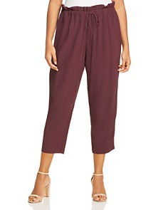 Eileen Fisher Plus - Paperbag-Waist Drawstring Crop Pants