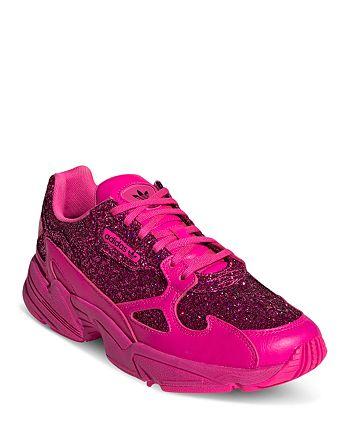 best service cda8f cd93c Adidas - Women s Falcon Glitter Low-Top Dad Sneakers