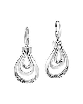 JOHN HARDY - Sterling Silver Classic Chain Asli Link Drop Earrings