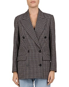 The Kooples - Cappotto Double-Breasted Checked Blazer