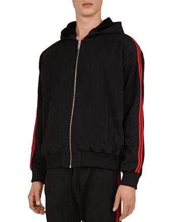 The Kooples - Technical Fleece Zip-Front Hoodie