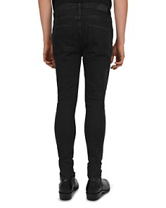 The Kooples - Distressed Slim-Fit Jeans in Black Washed