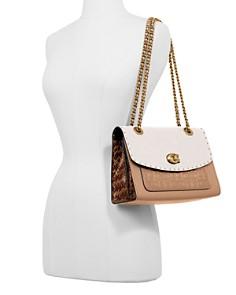 COACH - Parker Mixed Media Studded Convertible Shoulder Bag