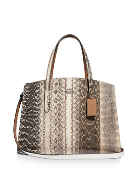 COACH - Charlie Snakeskin Tote