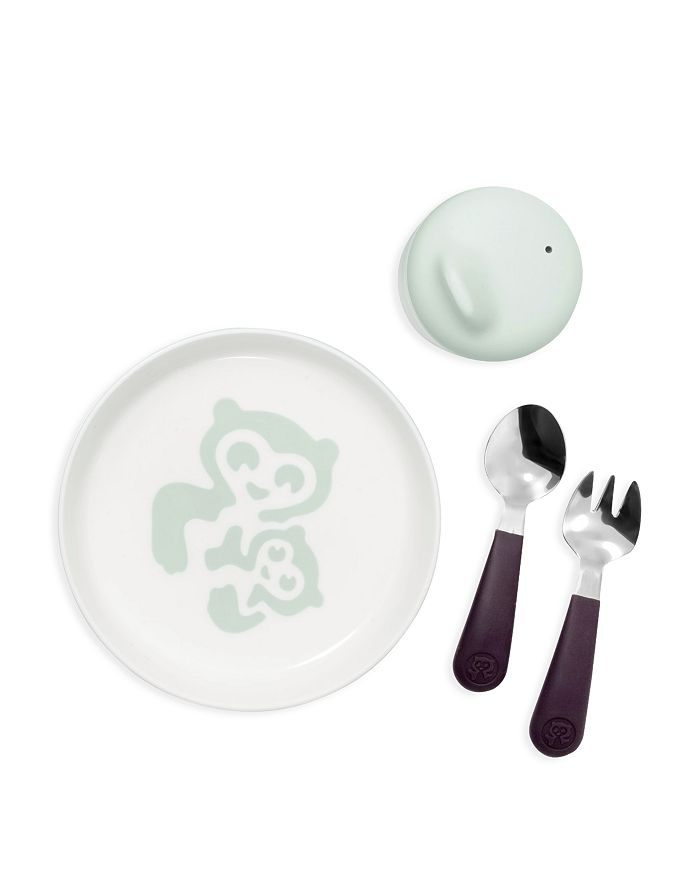 Stokke - Essentials Soft Cup, Plate, Fork & Spoon Set in Soft Mint