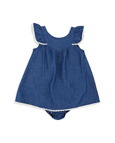 7 For All Mankind - Girls' Fluttered Chambray Dress & Bloomers - Baby
