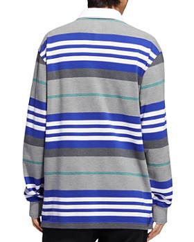 adidas Originals - Cleland Striped Long-Sleeve Regular Fit Polo Shirt