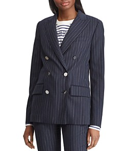 Ralph Lauren - Pinstriped Double-Breasted Blazer - 100% Exclusive