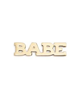 Zoë Chicco - 14K Yellow Gold Itty Bitty BABE Stud Earring