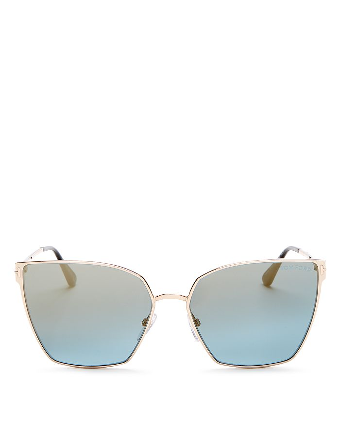 Tom Ford - Women's Mirrored Cat Eye Sunglasses, 59mm