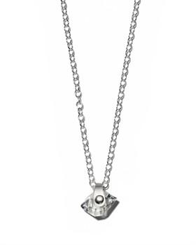"""Kris Nations - Herkimer Quartz Pendant Necklace, 16"""""""