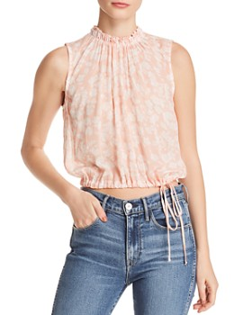 Bella Dahl - Floral Blouson Cropped Top