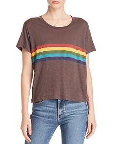 Sundry - Vintage Rainbow-Stripe Tee