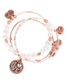 Alex and Ani - Love Language Expandable Bracelets, Set of 3