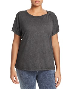 Marc New York Plus - Heathered Twist-Shoulder Tee