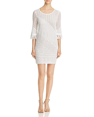 Nic And Zoe Dresses NIC+ZOE OPEN-KNIT SHIFT DRESS