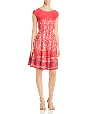 Nic And Zoe Dresses NIC+ZOE GARDEN PARTY PRINTED SWEATER DRESS