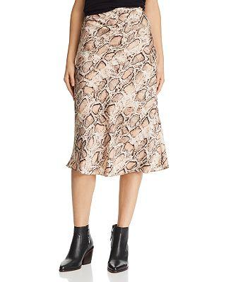 Lucy Paris - Snake Print Slip Skirt