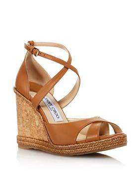 61963c7f457a Jimmy Choo - Women s Alanah 105 Cork Wedge Heel Sandals ...