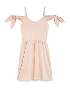 Miss Behave - Girls' Cold-Shoulder Tied Dress - Big Kid