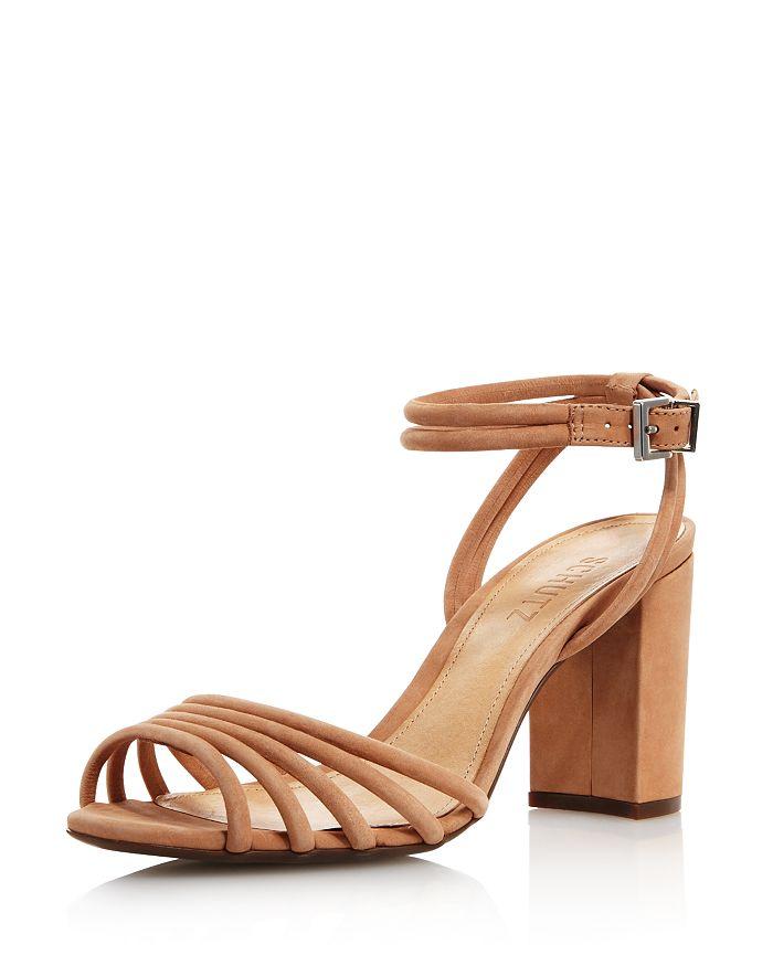 SCHUTZ - Women's Nicolai Nubuck Leather Block Heel Sandals