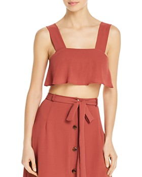 Ellejay - Nina Cropped Top Swim Cover-Up