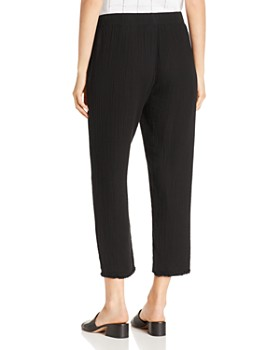Eileen Fisher Petites - Cropped Drawstring Plissé Pants