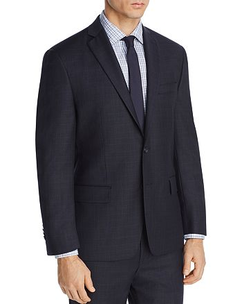 Michael Kors - Tonal Plaid with Windowpane Classic Fit Suit Jacket
