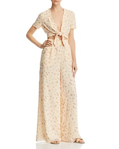 Fame and Partners - The Carlota Floral-Print Wide-Leg Pants