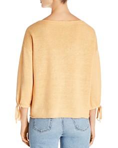 Eileen Fisher - Organic Linen Tie-Cuff Sweater - 100% Exclusive