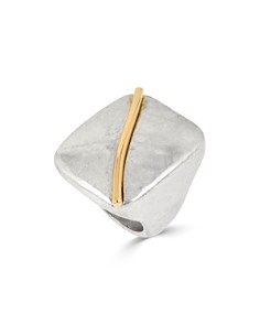 Robert Lee Morris Soho - Two-Tone Geometric Ring