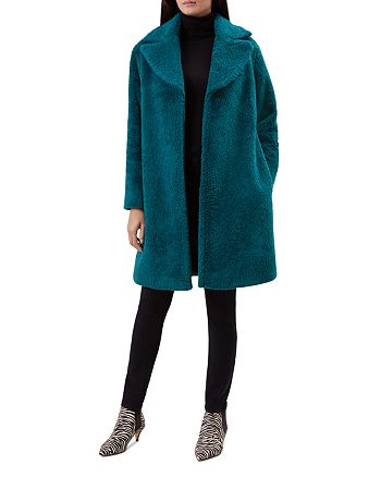 HOBBS LONDON - Braidy Teddy Faux Fur Coat